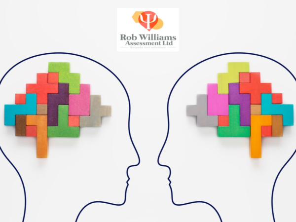 abstract reasoning test strategies. Drawing of heads with blocks.
