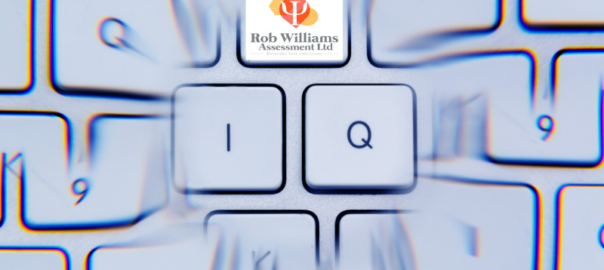 IQ on blurred keyboard to distinguish intelligence tests.
