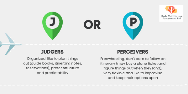MBTI tips J or P infographic