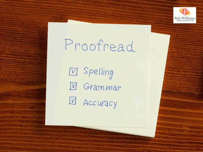 What is involved in clerical aptitude test, spelling, grammar and accuracy on paper.